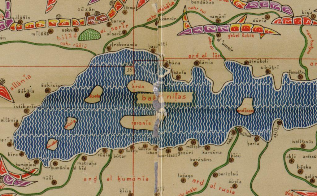 Фрагмент большой карты мира аль-Идриси с Черноморским регионом.