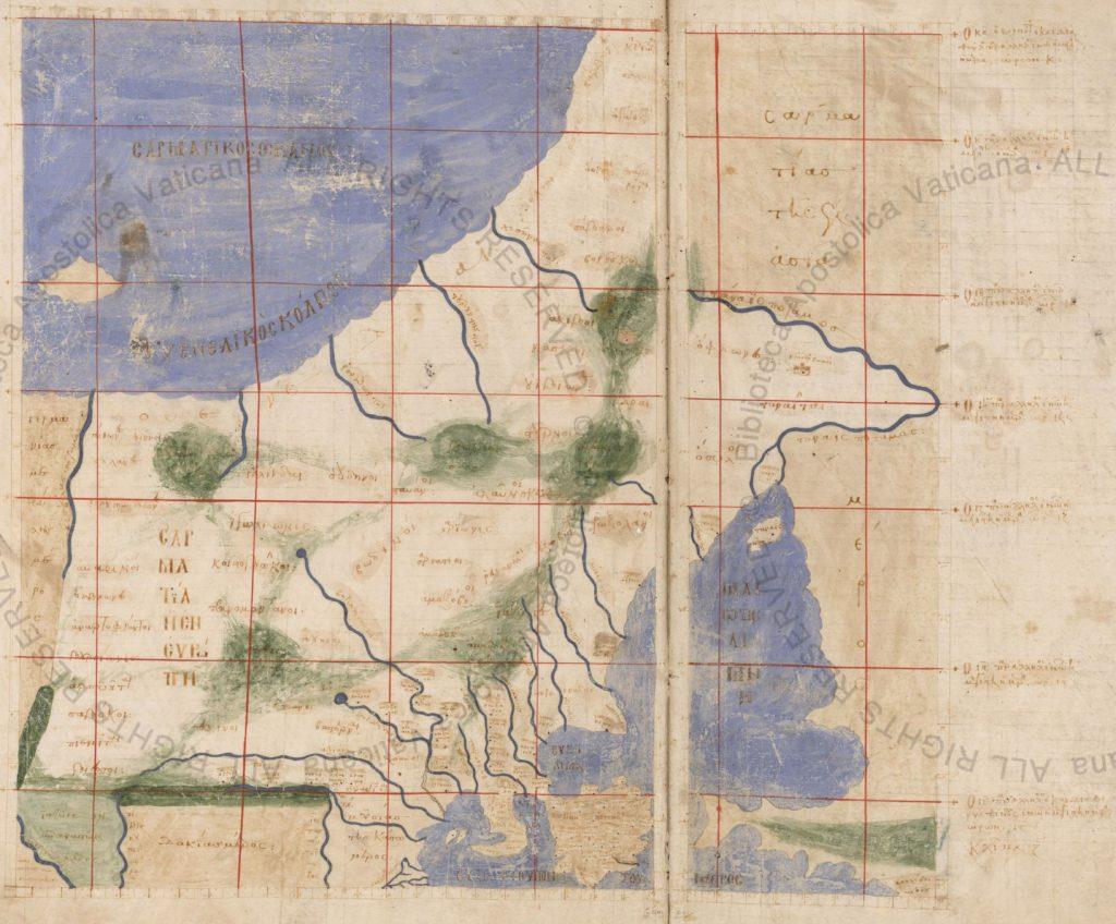 Карта Европейской Сарматии к «Географии» Птолемея