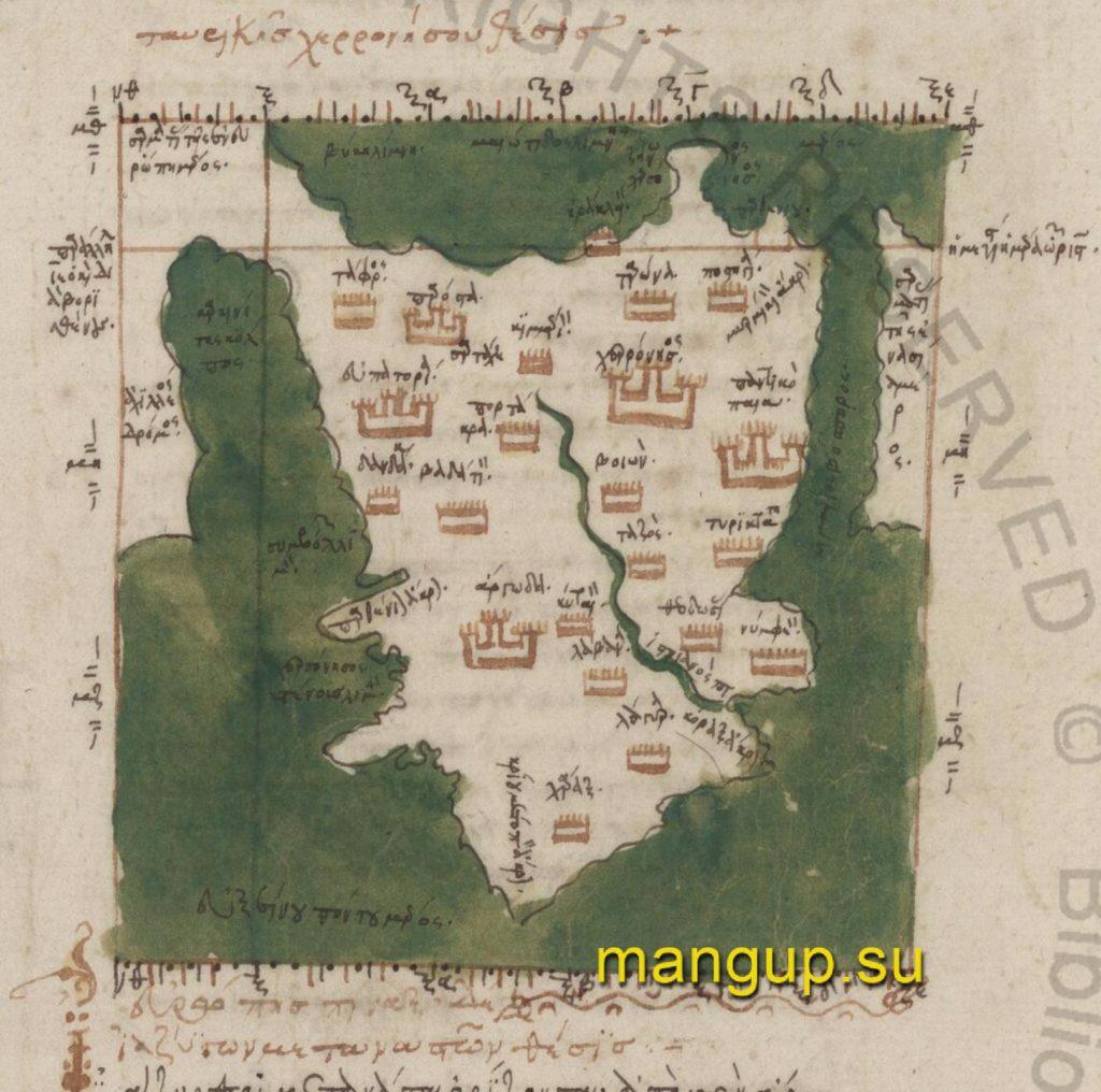 Карта Херсонеса Таврического.