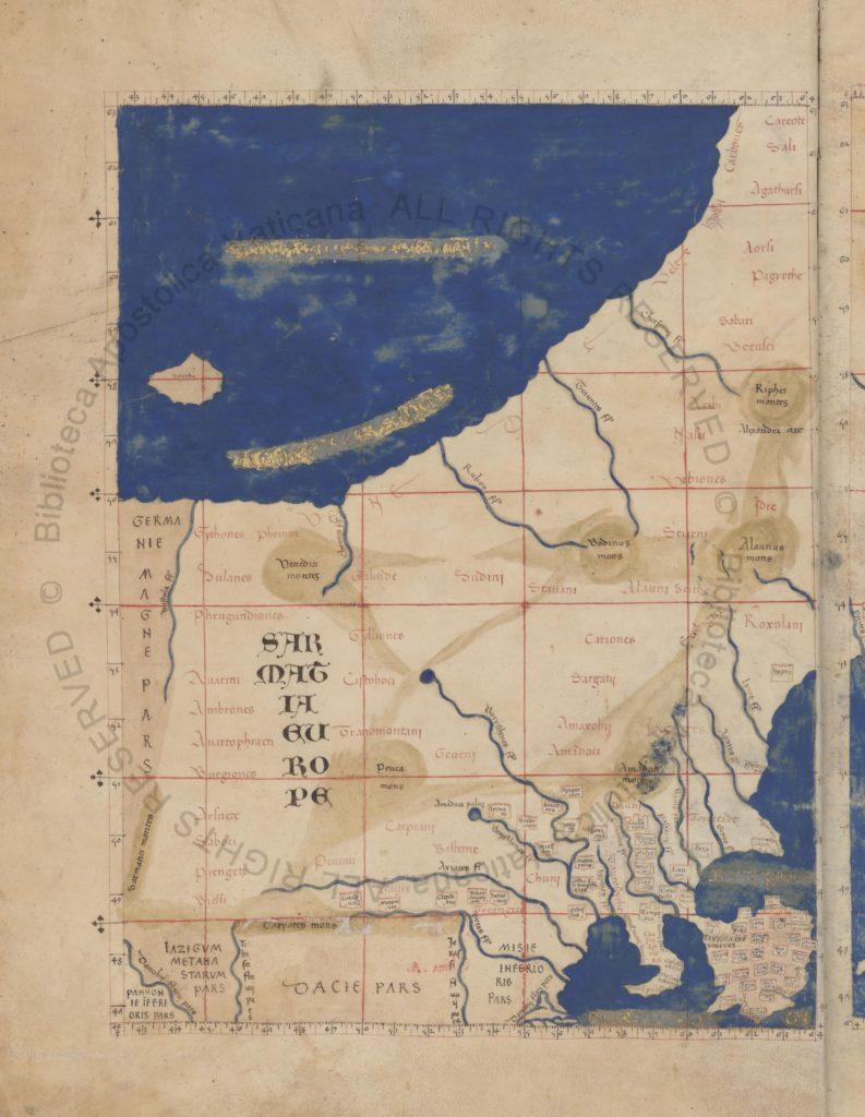 Карта Европейской Сарматии к «Географии» Птолемея.