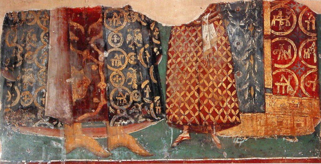 Фреска над могилой F в нартексе монастыря Хора.