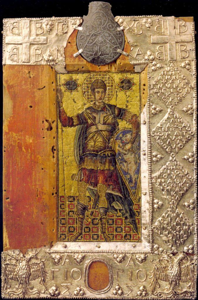 Мозаичная икона св. Дмитрия из Сассоферрато.