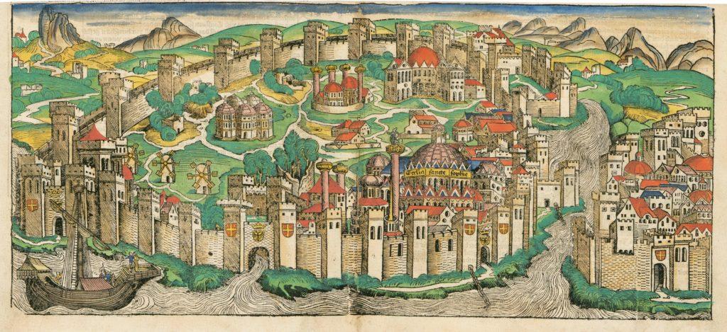 Двуглавый орел на воротах Константинополя.