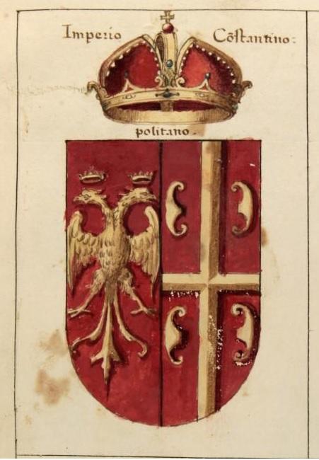 Герб Константинопольской империи из гербовника Джакомо Фонтана