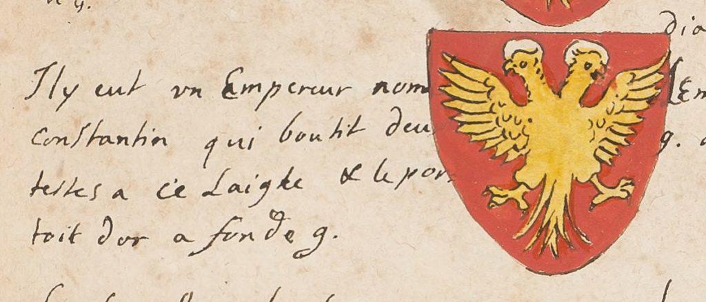 Герб императора Константинополя из Armorial dit du héraut Charolais