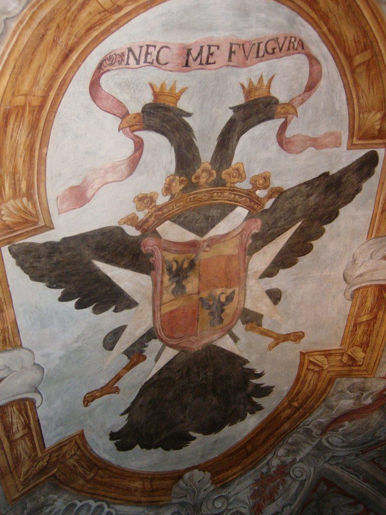 Двуглавый орел во дворце Ласкарисов в Ницце