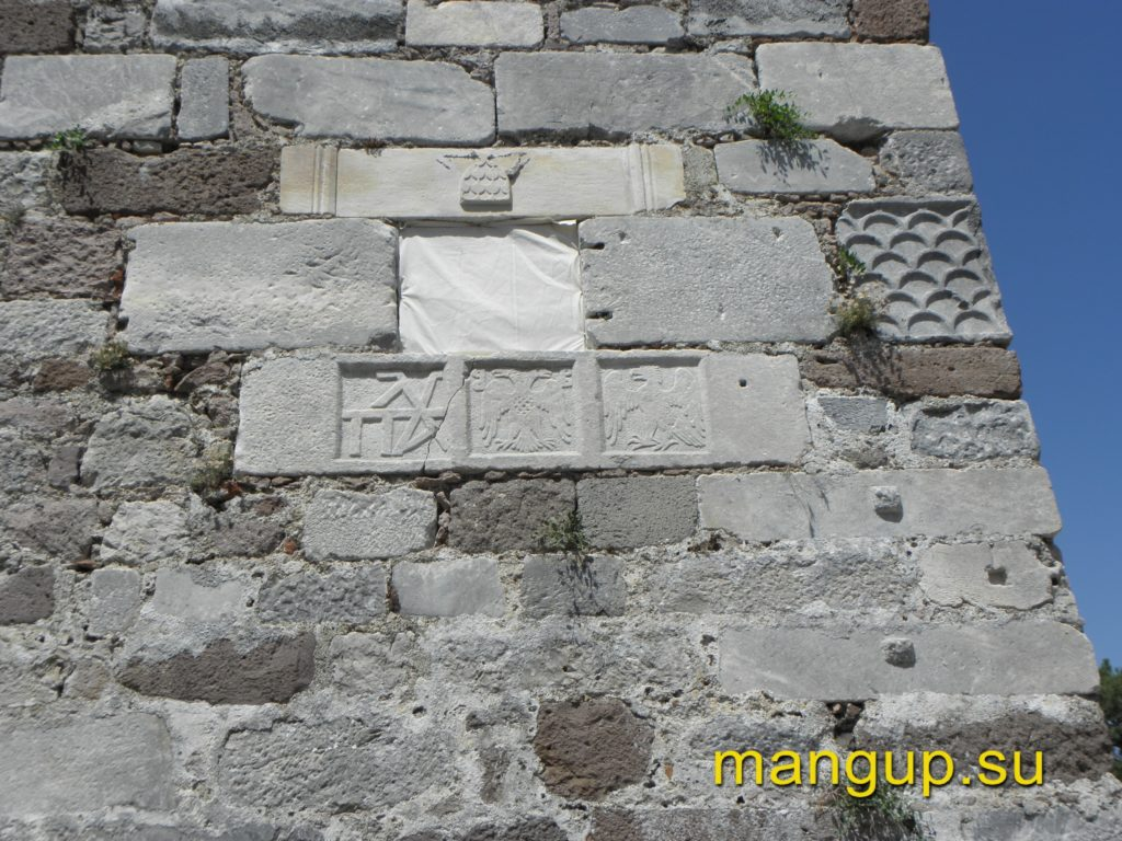 Строительная плита из крепости Митилена.
