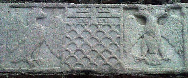 Самофракия. Плита с гербами Паламеде Гаттилузио.