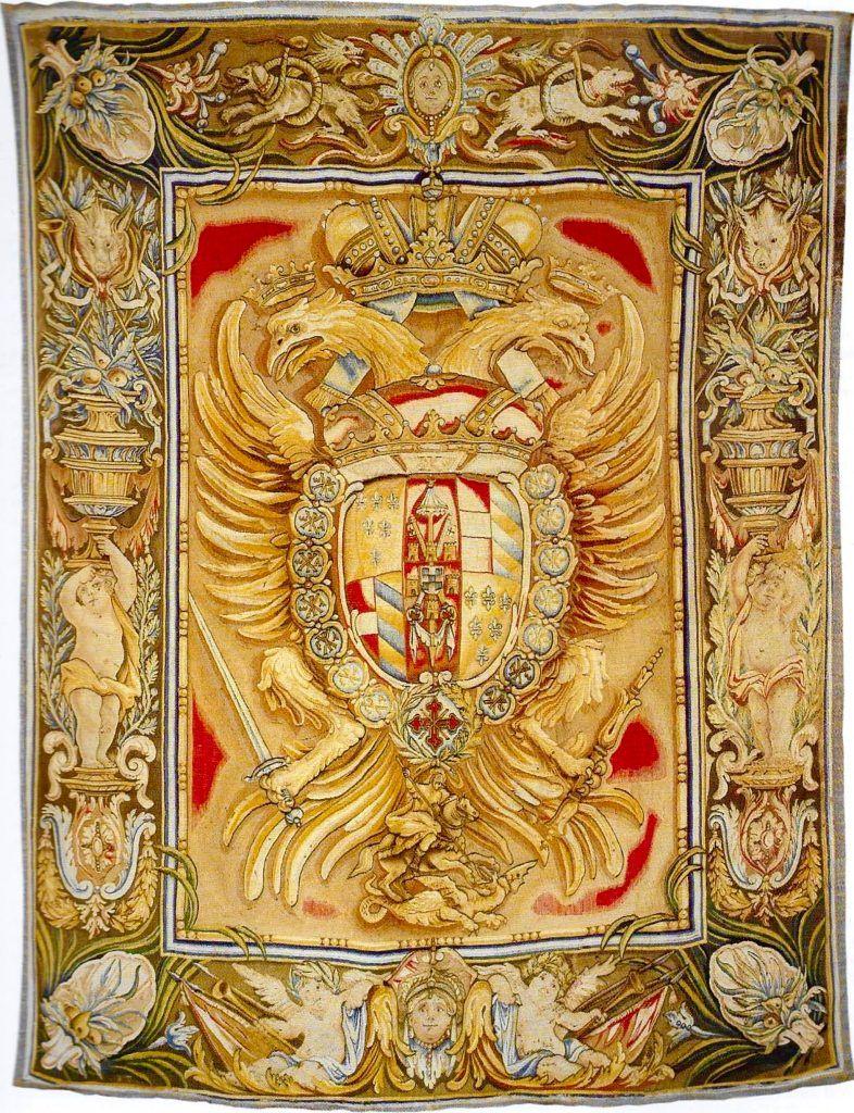 Герб Франческо Фарнезе как магистра Константиновского Ордена.