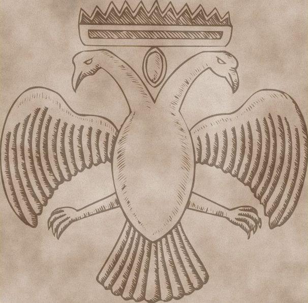 Двуглавый орел из Эсфигменского монастыря.