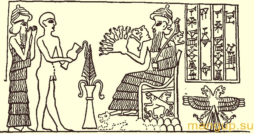 Дуглавый орел на печати из Лагаша