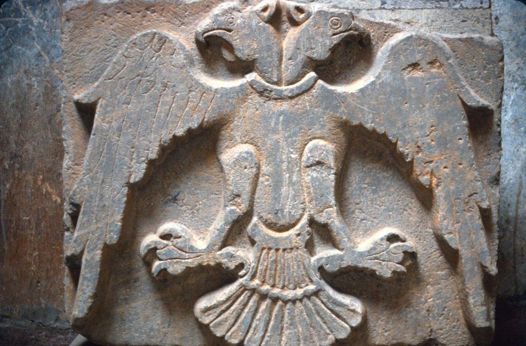 Рельеф с изображением двуглавого орла из Медресе Тонкого минарета