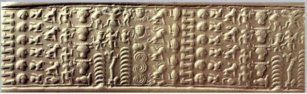 Гематитовая печать из Сирии с двуглавым орлом