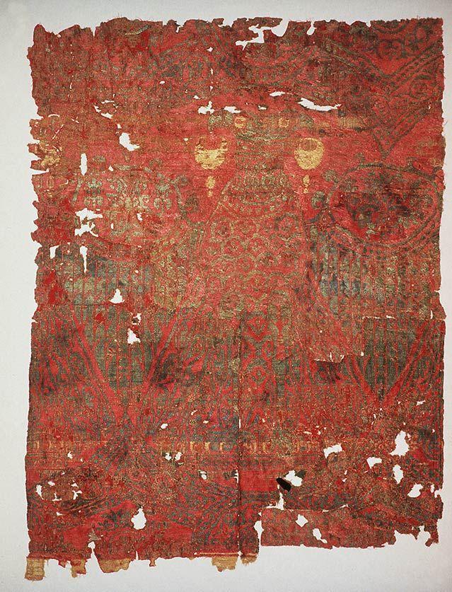 Фрагмент шелковой ткани с двуглавым орлом. Место хранения: Dumbarton Oaks Collection.