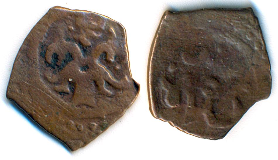 Медная монета хана Тула-Буги чекана Крыма.