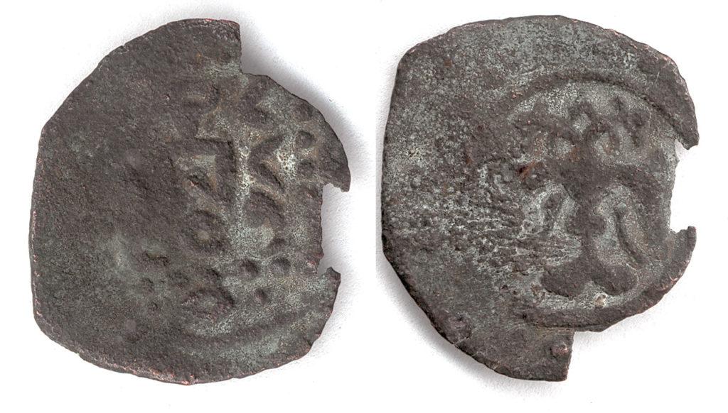 Медная монета хана Тохты чекана Крыма.