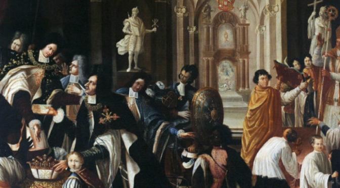 Передача Франческо Фарнезе прав магистра Константиновского Ордена св. Георгия