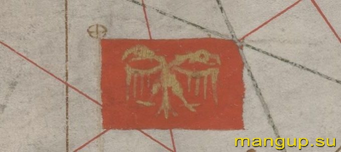 Флаг Трапезунда на карте Дж. Сольери (1380).