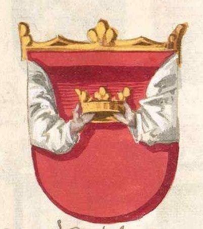 Герб «греческого короля» из гербовника Конрада Груненберга