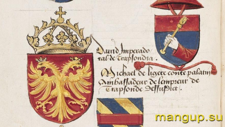 Герб Давида Великого Комнина из «Общей книги по геральдике» (1497).