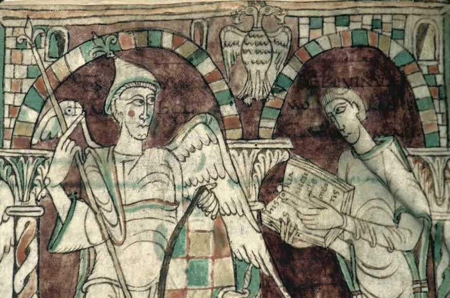 Миниатюра из рукописи Recognitiones Псевдо-Климента.