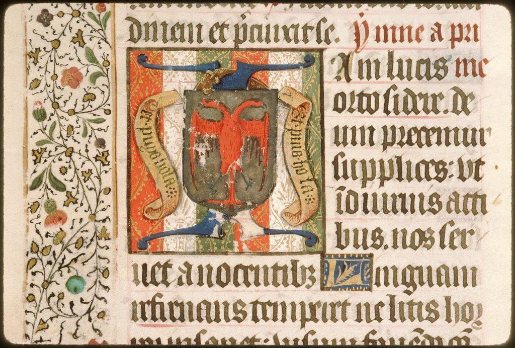 Герб Жана IV ле Менгр Бусико (1423-1490) из Псалтири XV века.