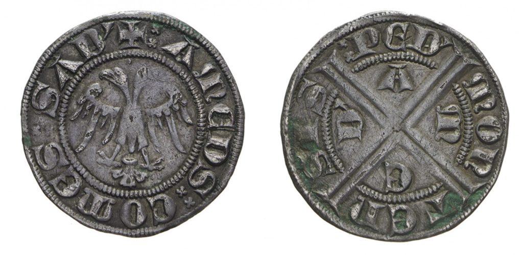 Гроссо савойского графа Амадея V (1285-1323), сына Томаса II Савойского.