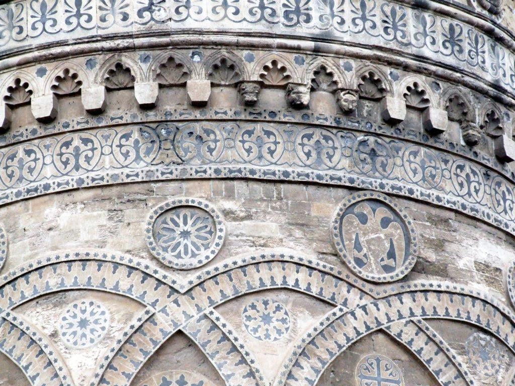 Двуглавый орел в апсиде кафедрального собора в Палермо (XII век).