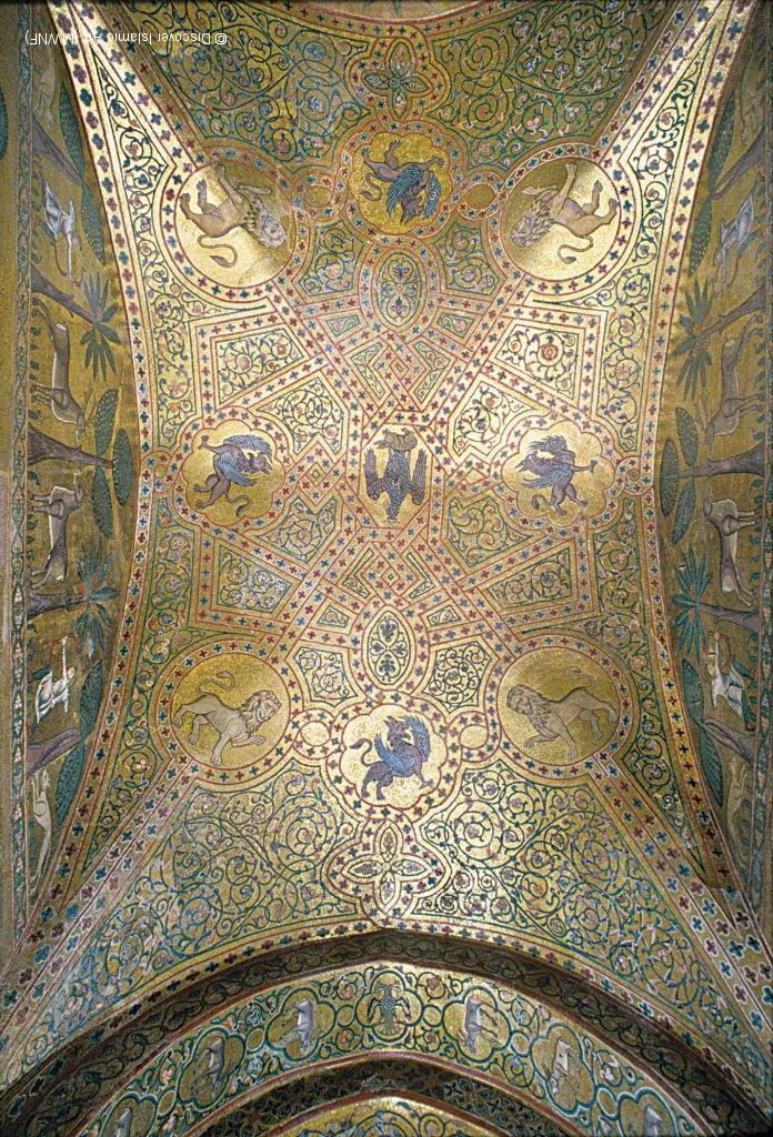 Мозаика свода «Зала короля Роджера» королевского дворца в Палермо