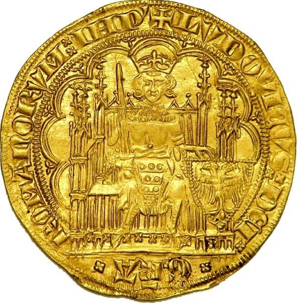 Золотая монета герцога Брабантского Жана III