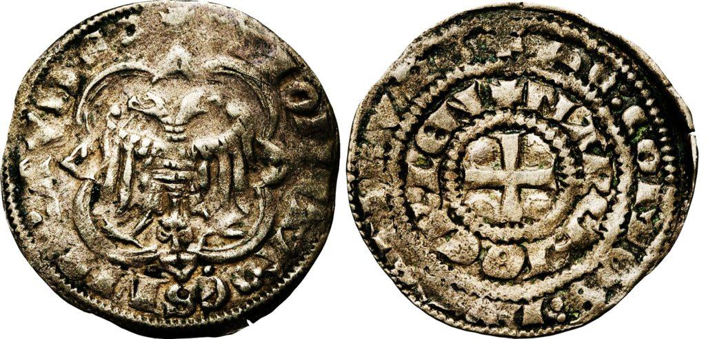 Серебряный флорин Генриха VII, герцога Люксембургского.