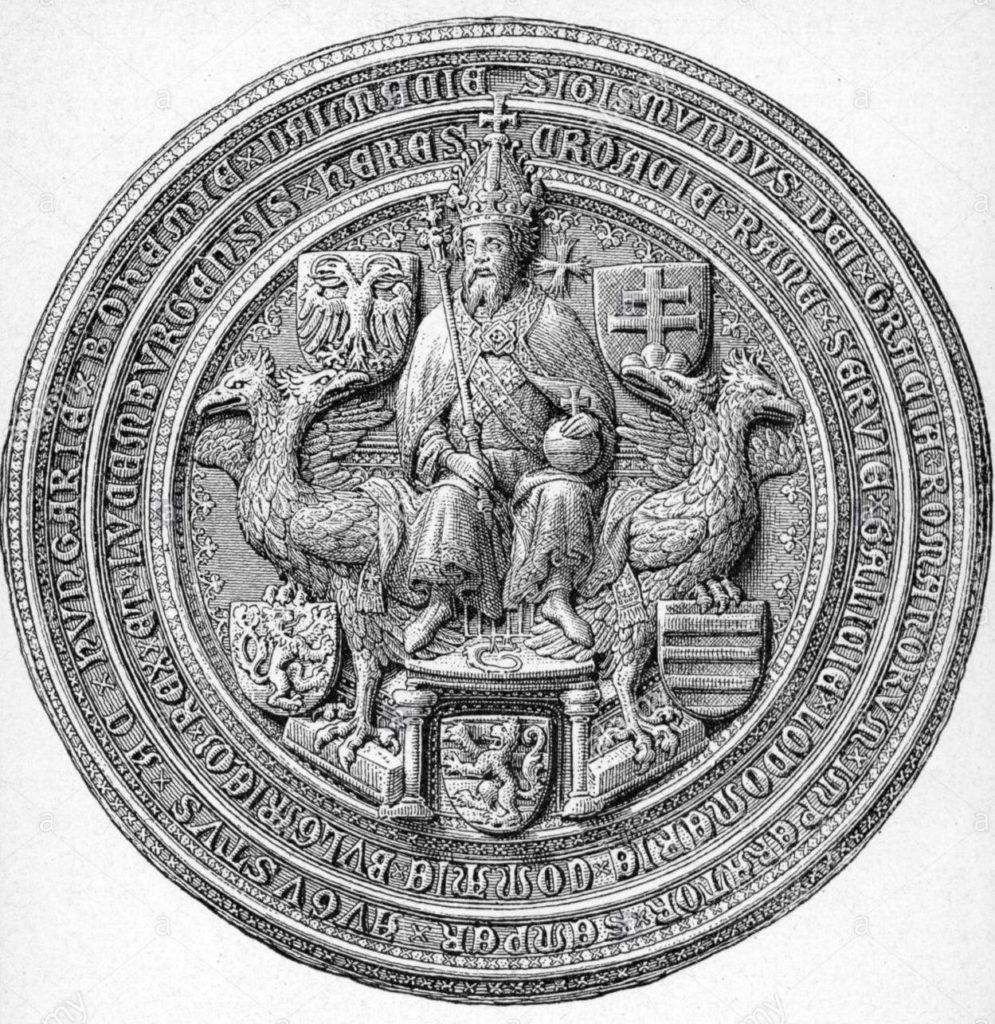 Лицевая сторона императорской печати Сигизмунда Люксембургского.