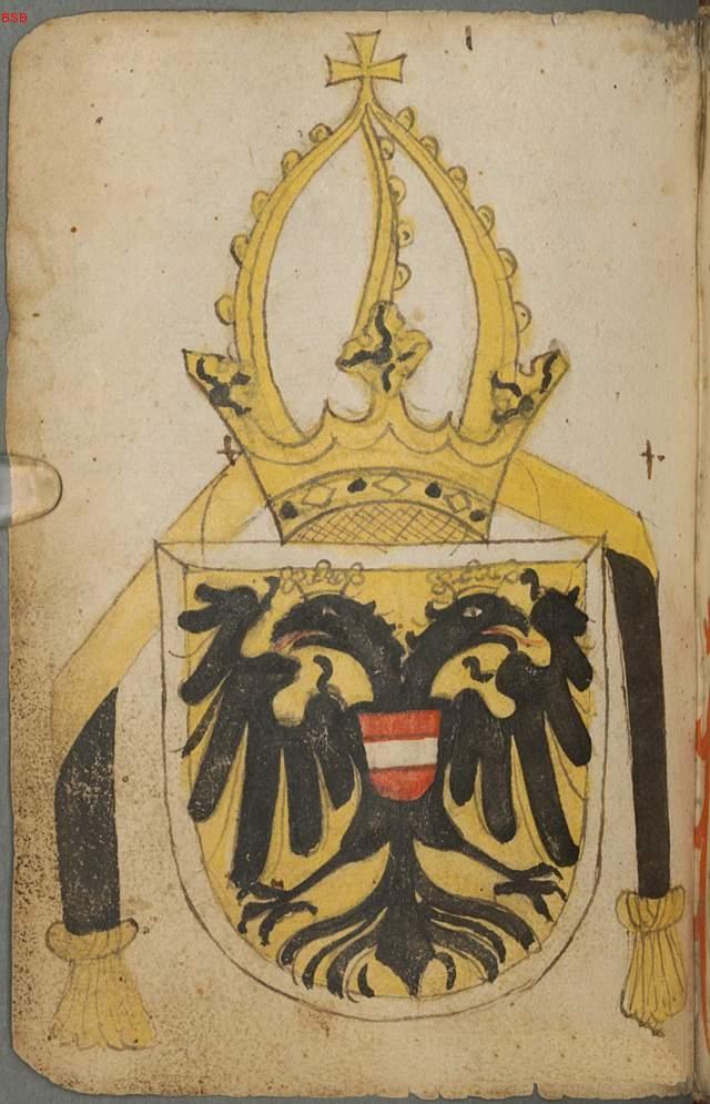Герб Фридриха III Габсбурга, императора Священной Римской Империи.