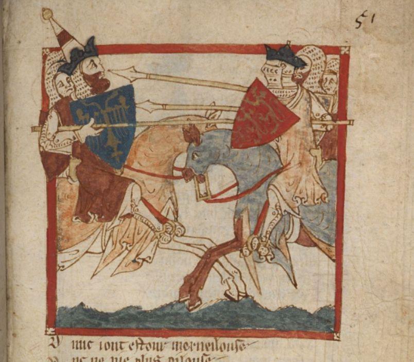 Битва Артура с императором Рима.