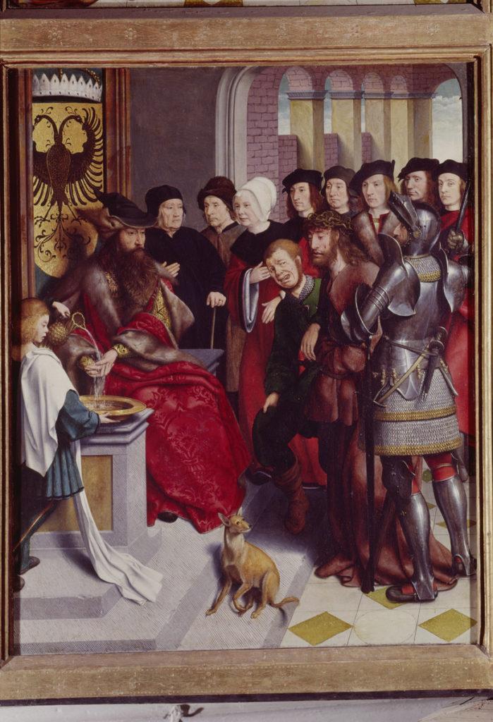 Ян Юст. Иисус перед Пилатом.