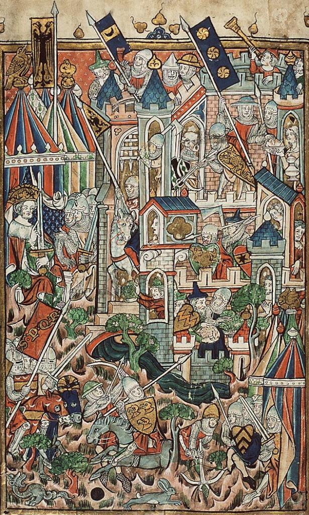 Штурм Иерусалима римлянами.