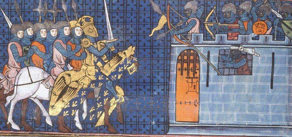 Карл Великий осаждает Аген.