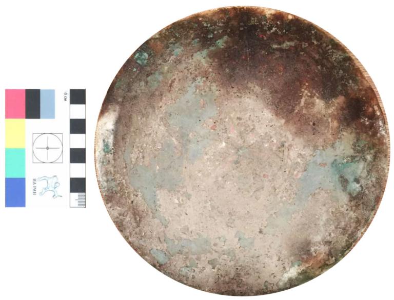 Эски-кермен. Бронзовая тарелка, раскопки 2020 года.