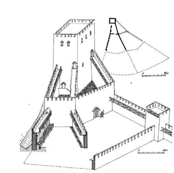 Предполагаемая реконструкция крепости Тягин.